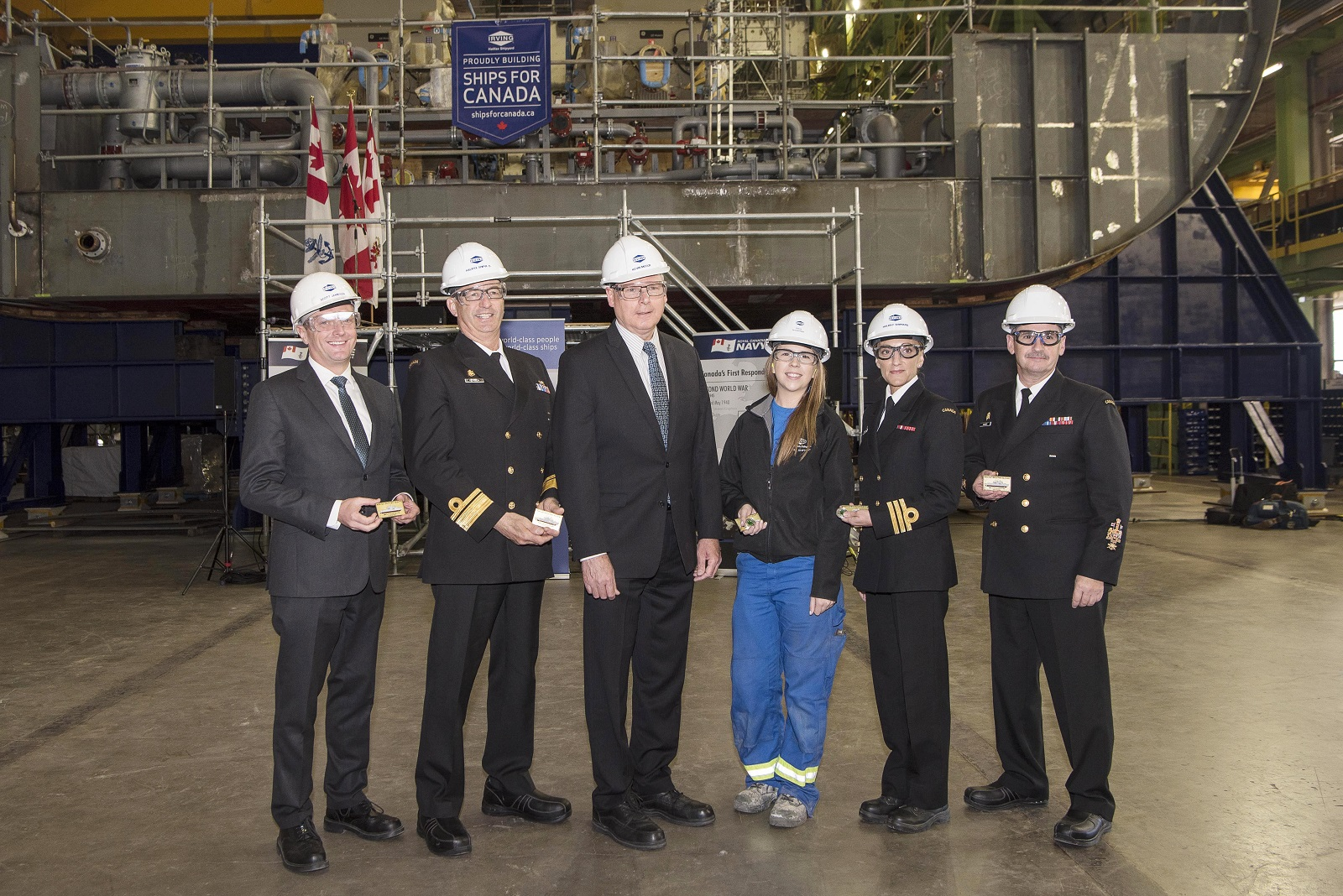 HMCS Margaret Brooke keel laying