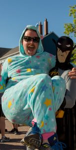 """Batman and the Easter Bunny took part in the """"Give a Lift"""" challenge.  Photo: Cpl J.W.S Houck, FIS Halifax"""