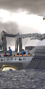 An artist rendering of what the former MV Asterix will look like upon the completion of Davie Shipbuilding's Project Resolve, which is set to deliver the Asterix as a civilian-owned interim AOR ship to the RCN this fall. Photo: Davie Shipbuilding/Project Resolve