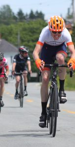 MS James Gillett in action at the Riverport Road Race on June 18.  Photo: Courtesy of Brianne Steinman