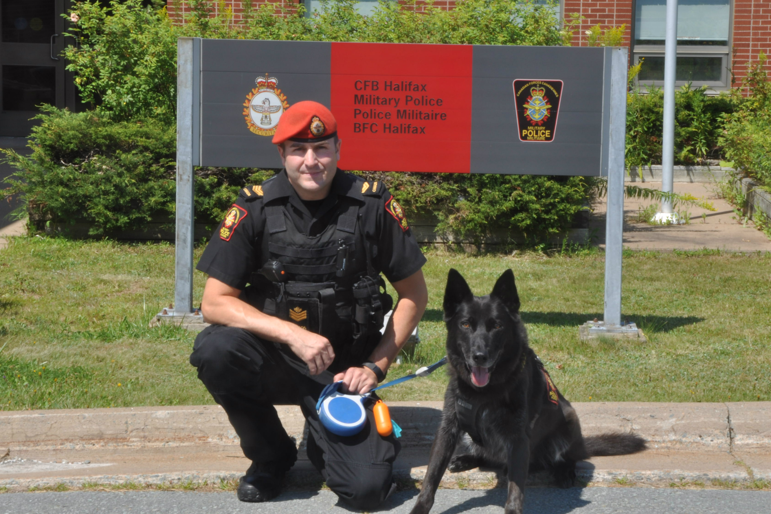 Sgt and police dog