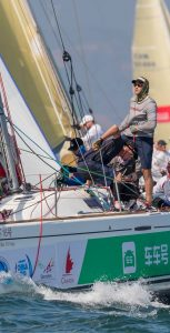 Caption Capt Mike Evans' team competes on a Beneteau 40.7 sailboat during the China Cup International Regatta 2017. Photo: submitted