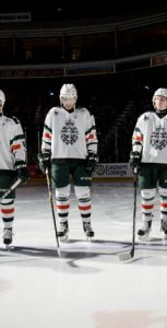 The Halifax Mooseheads wear special CAF-inspired jerseys each year on DND Appreciation Night, and a new design will be unveiled on November 17 at this year's game against the Saint John Sea Dogs. Photo: J.W.S Houck, FIS Halifax