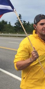 OS O'Flynn participates in the Run the Rock event, a fundraiser held by HMCS St. John's.                                                                               SUBMITTED