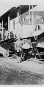 The first HS2L Flying Boat at Baker's Point in 1918. Photo: Shearwater Aviation Museum.