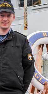 LS Michael Spencer, a stoker aboard HMCS Glace Bay, is sharing the story of his battle with depression in hopes of benefiting others who may be struggling. Photo: RYAN MELANSON, TRIDENT STAFF