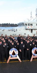 Naval Reservists from 22 Naval Reserve divisions spent two weeks training at sea in an Orca class vessel. Photo: A/SLt Alex Wood , HMCS York