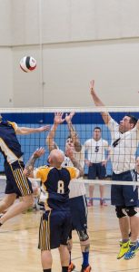 Just two teams competed for the men's regional volleyball title, with the CFB Halifax team eventually defeating Greenwood. Photo: LS LOUIS-PHILIPPE DUBÉ, 14 WING IMAGING