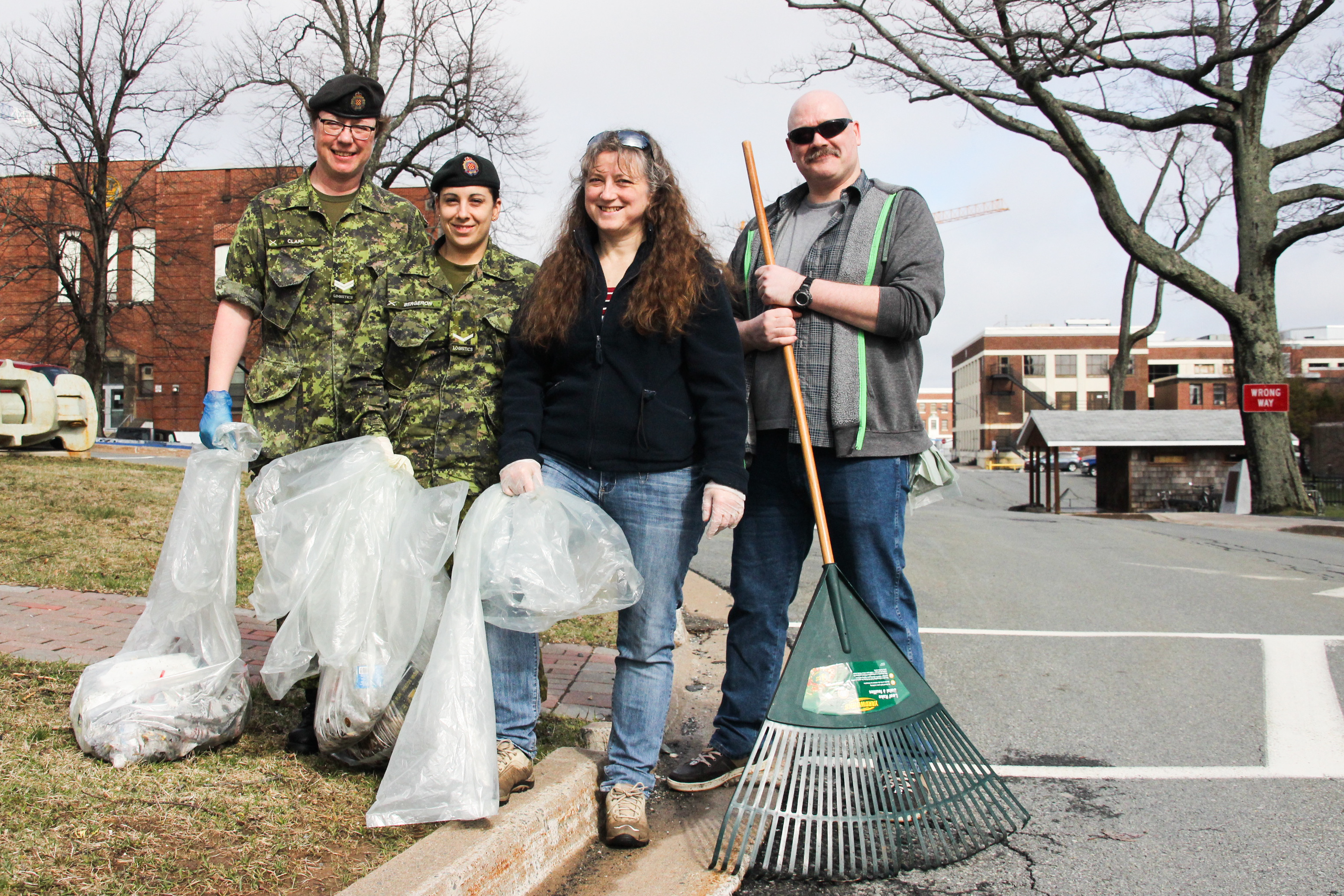 Spring cleanup at CFB Halifax