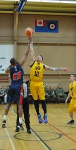 The CFB Halifax Mariner's Men's Basketball team took the silver medal at the CAF National Basketball Championship, falling 70-59 against the team from Trenton in the final game on April 11 in Moose Jaw. Photo: Avr Nina Appolloni, JPSU