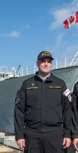LS Bujold-Foisy (left) and OS Hachez (right,) crewmembers of HMCS Vancouver, were two of four RCN members who intervened in a stabbing on March 17, 2018 in Langford, BC.  Photo: MCPL BRENT KENNY, MARPAC IMAGING SERVICES