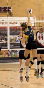 Both CFB Halifax teams took silver medals at the recent CAF National Volleyball Championships, with the men playing to a 1-3 loss against Ottawa in the championship game, while the women fell 2-3 to 17 Wing Winnipeg. AVR ALEVTINA OSTANIN, CFB BORDEN IMAGERY