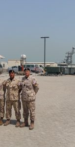 CAF personnel stationed in Bahrain mark Battle of the Atlantic Sunday with a ceremony and wreath laying. Photo: SUBMITTED