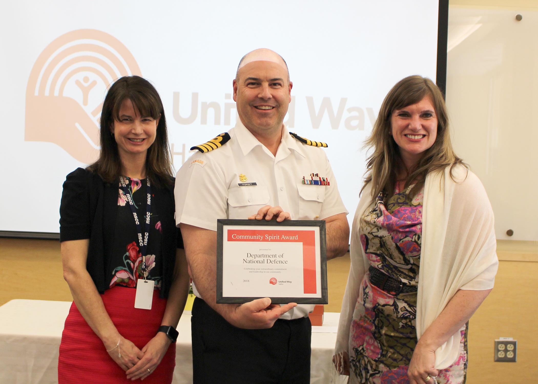 DND receives Community Spirit Award