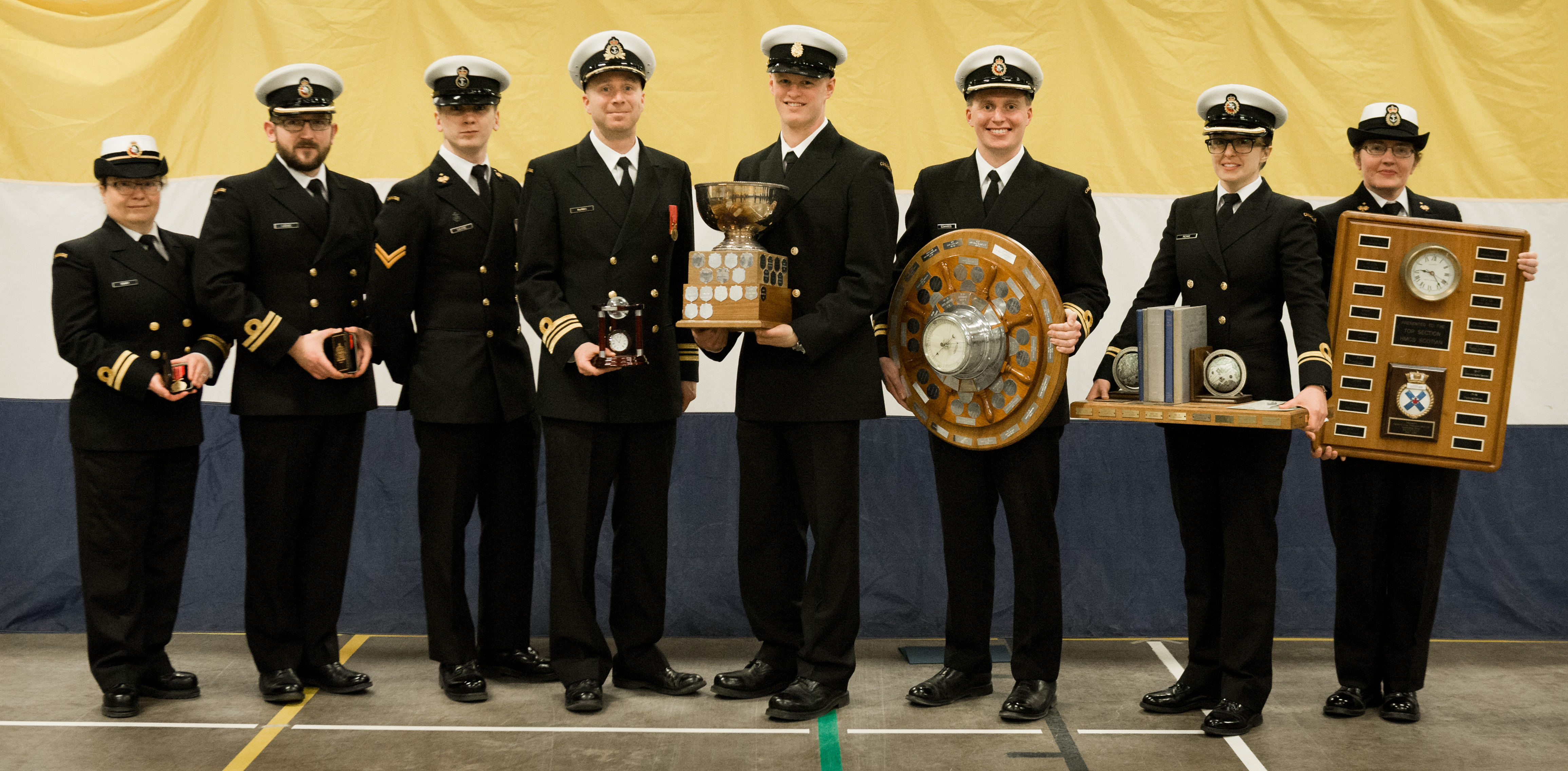 HMCS Scotian holds divisions