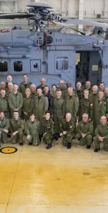 A group of RCAF Honorary Colonels from across the country, seen here with Commander RCAF LGen Al Meinzinger and 12 Wing personnel in front of a CH-148 Cyclone Helicopter, visited Shearwater and Greenwood from June 6-8 as part of an annual Honorary Colonels' Conference. Photo: LS LAURANCE CLARK, 12 WING IMAGING
