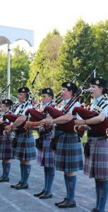 The 12 Wing Pipes and Drums perform. SUBMITTED