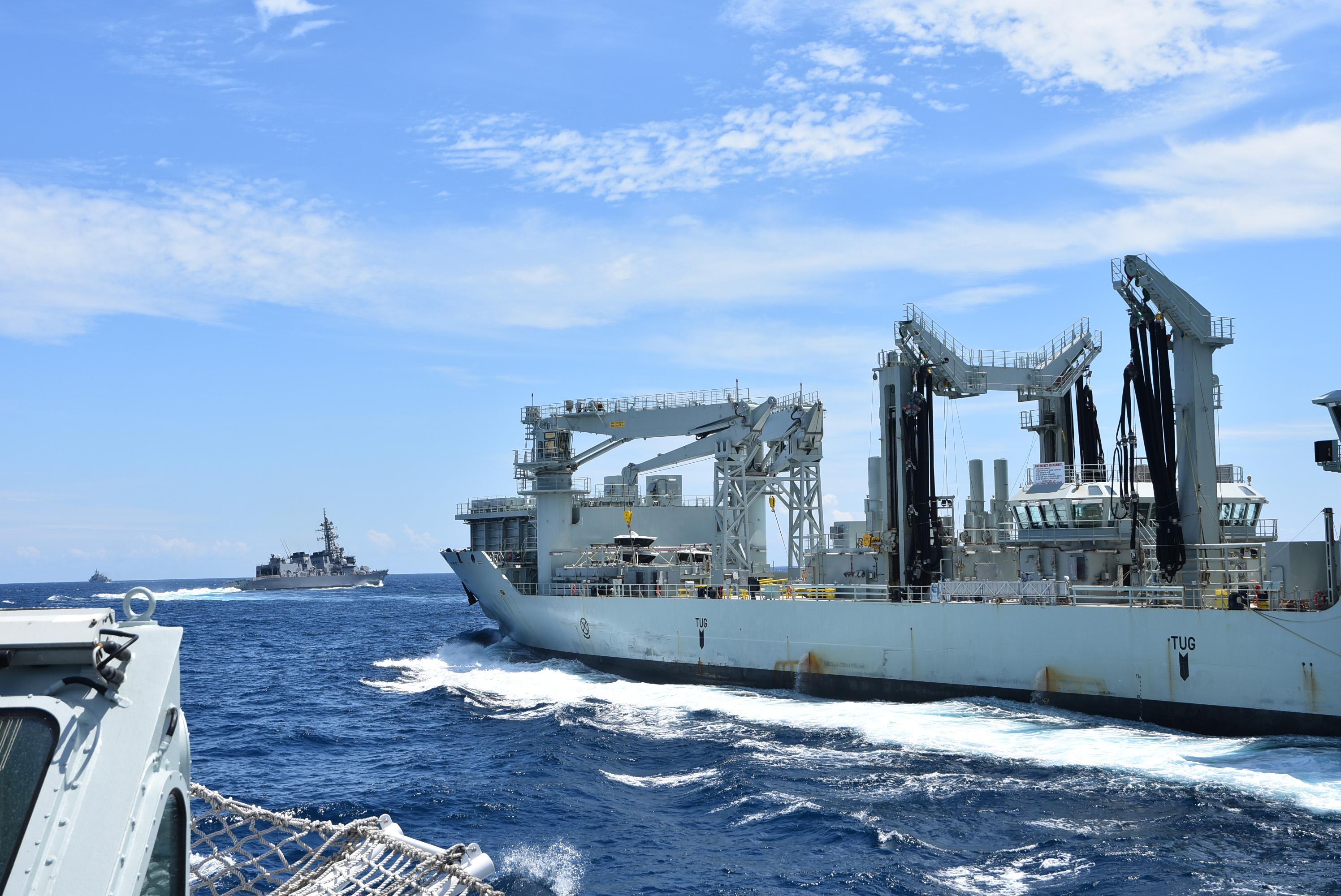 MV Asterix conducts replenishment at sea
