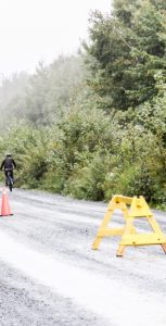 WO Charlene Arsenault heads up the trail during the mountain-bike portion of the race. RYAN MELANSON, TRIDENT STAFF