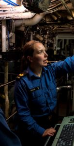 MS Forrester in HMCS Halifax's Forward Engine Room. SUBMITTED