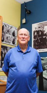 CPO1 (Ret'd) Doug Wright joined the RCN in 1955 and is still a regular at the STADPLEX gym today. He worked extensively to help create the Niobe Room and other collections of historical photos and information displayed on the gym walls. RYAN MELANSON, TRIDENT STAFF