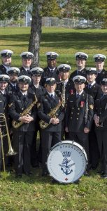 The Stadacona Band of Maritime Forces Atlantic in Windsor Park on October 24, prior to deploying to Belgium for Op DISTINCTION 2018, marking the centenary of the end of the First World War. MCPL NEIL CLARKSON, FIS