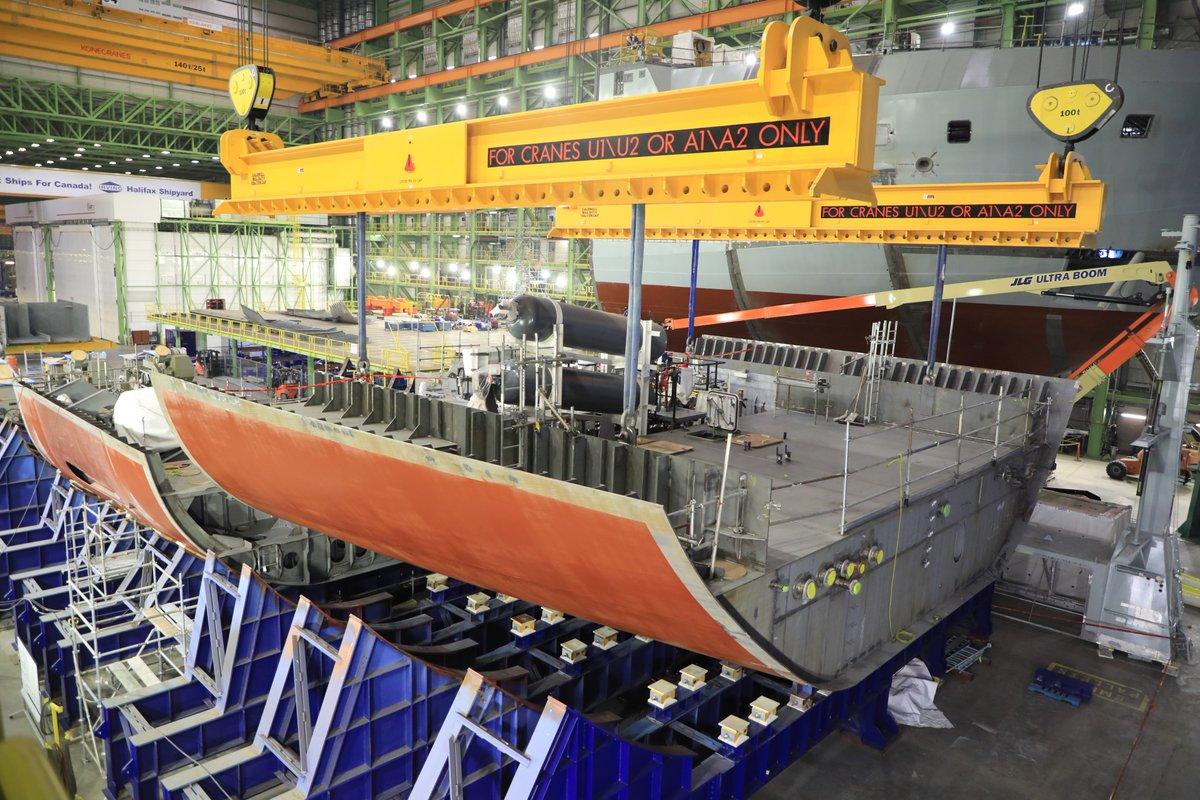 Progress on the future HMCS Max Bernays