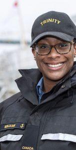 Ordinary Seaman Tiana Benjamin, Information Exploitation Operator at Trinity. MONA GHIZ, MARLANT PA