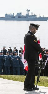The annual Battle of the Atlantic ceremony took place at the Sailors' Memorial in Point Pleasant Park on Sunday, May 5.                          MONA GHIZ, MARLANT PA