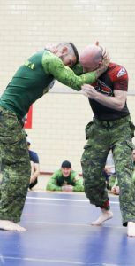 The MCGC brings CAF members together for a tournament-style training concentration focusing on hand-to-hand combat, emphasizing grappling styles that are used in CAF combatives programs. MCPL ALEX GAGNON