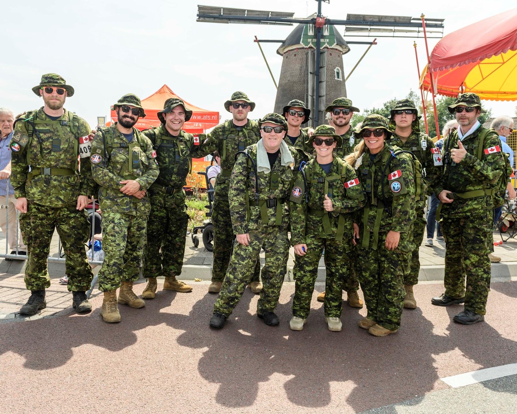 12 Wing's Nijmegen marchers