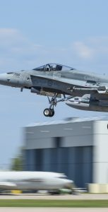 A CF-188 Hornet from 401 Tactical Fighter Squadron takes-off during Exercise MAPLE FLAG 51 on June 19, 2018 at 4 Wing, Cold Lake, Alberta. CPL MANUELA BERGER, 4 WING IMAGING