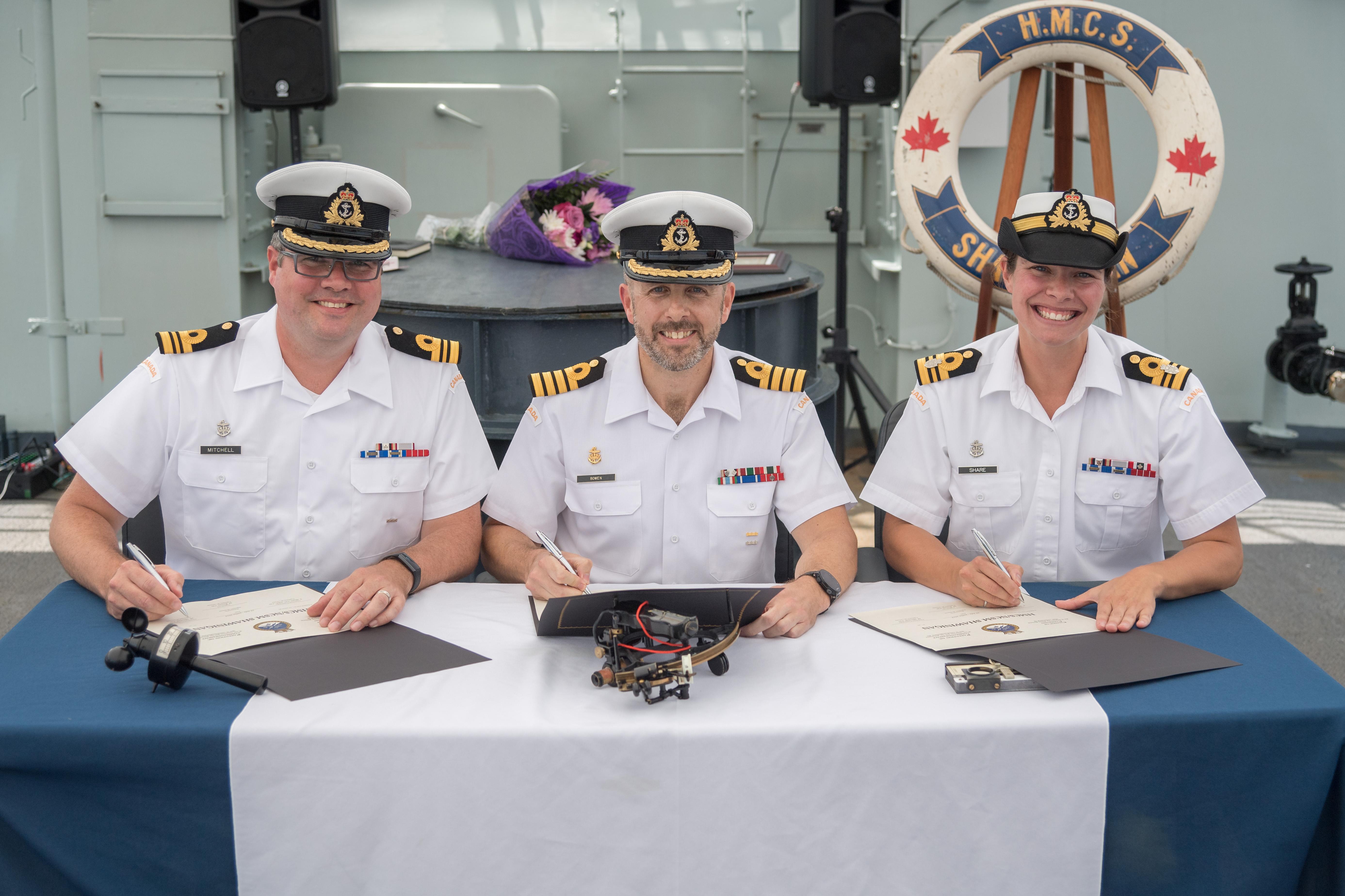 HMCS Shawinigan Change of Command