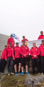 The 2019 Run the Rock team poses on Signal Hill in St. John's at the end of the race.                                                                                        SUBMITTED