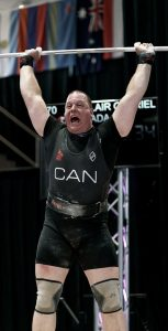 MCpl Auclair successfully lifts 177kg to win the clean and jerk category at the World Masters Weightlifting Championships in Montreal in August 2019.  	                                                                                                MICHÈLE GRENIER