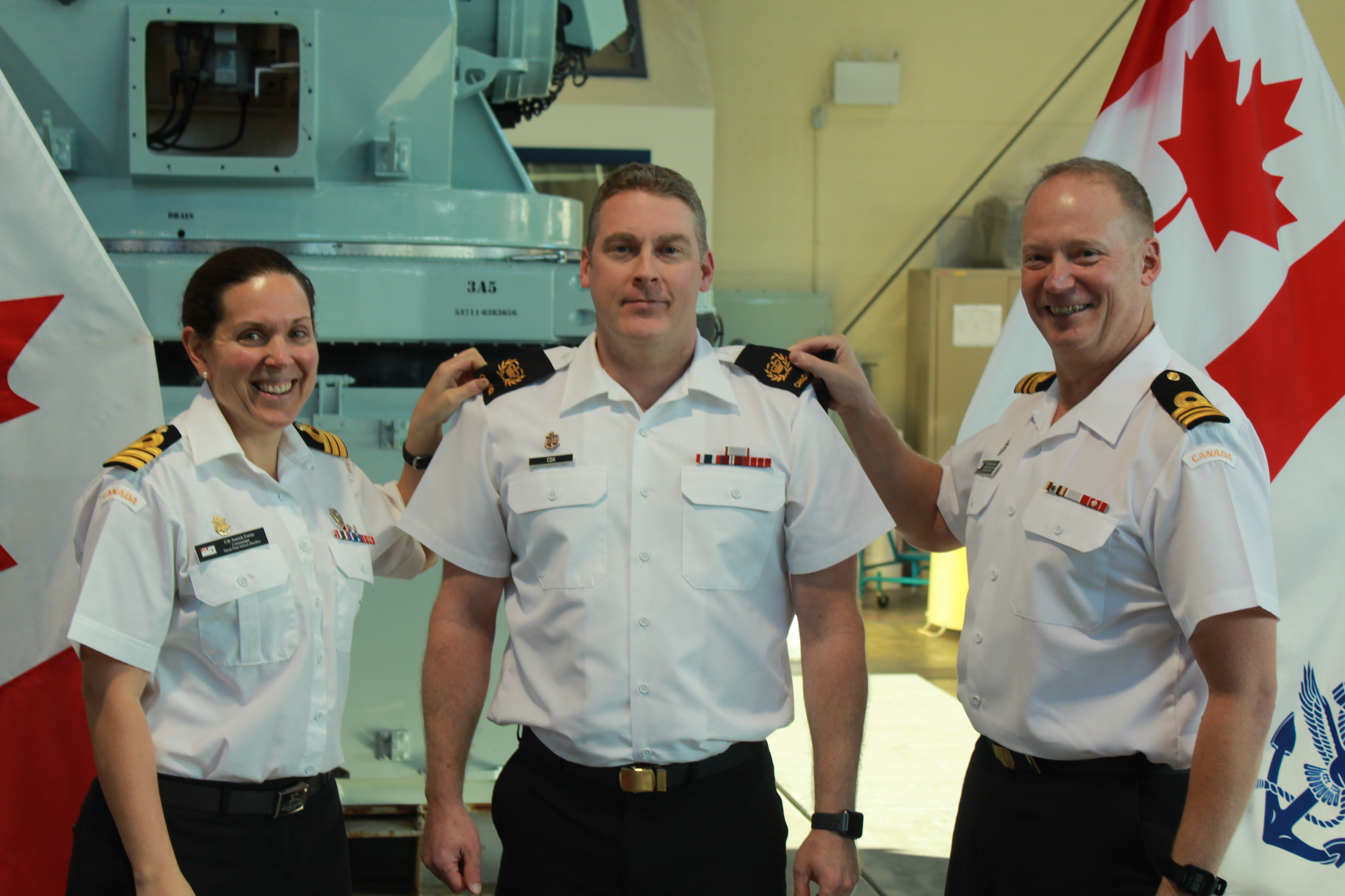Promotion at Naval Fleet School (Pacific)