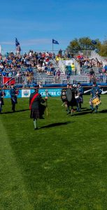 Local Defence Team members and soccer fans enjoyed a great game and even better weather during the HFX Wanderers Football Club's inaugural Canadian Armed Forces Appreciation Match on September 28.  LS JOHN IGLESIAS, FIS
