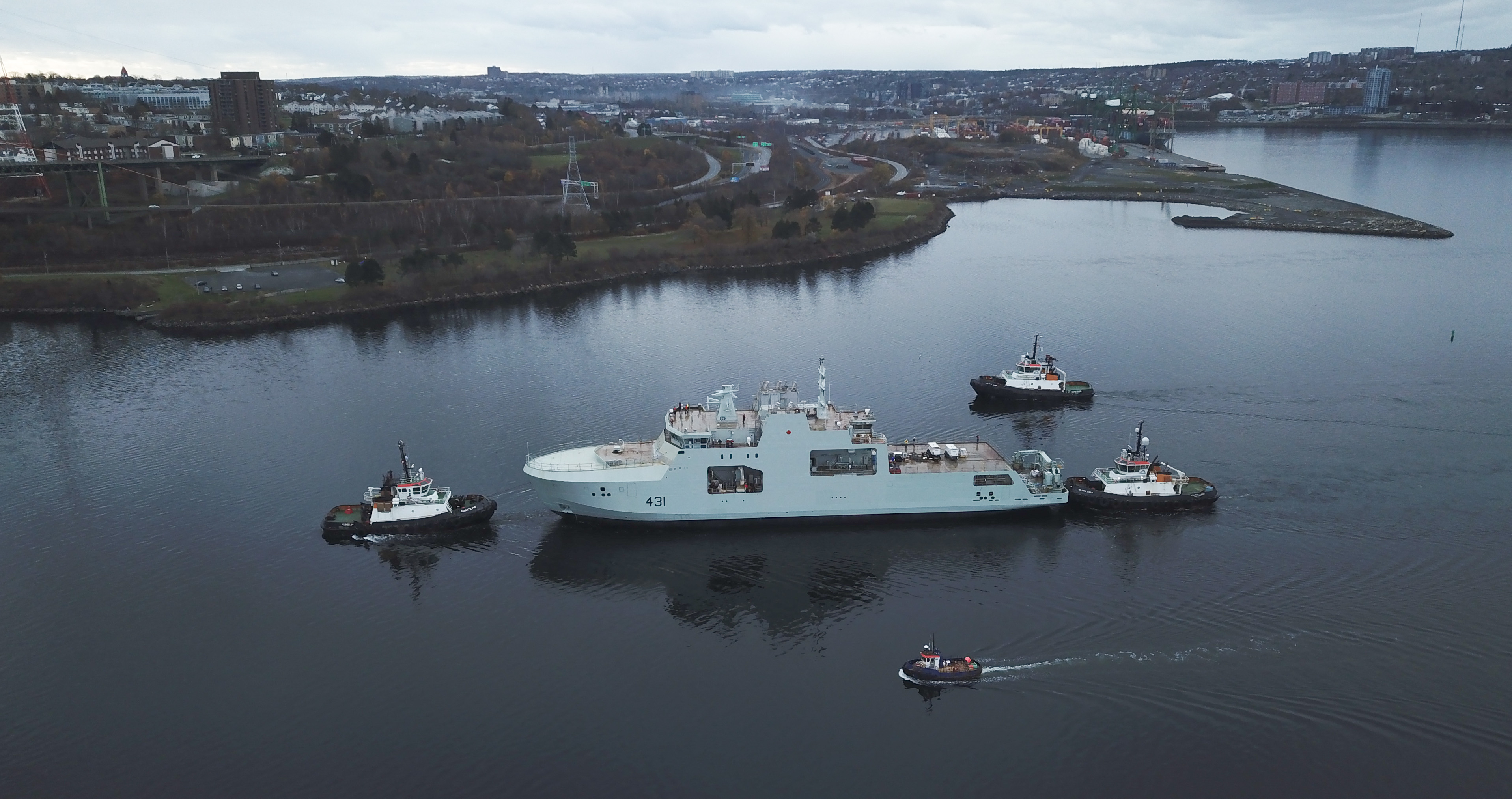 Future HMCS Margaret Brooke is launched