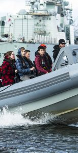 MARLANT hosted Grade 9 students for the 25th Anniversary of Take Our Kids to Work Day on November 6. Students took part in a wide variety of tours and activities at CFB Halifax, including a RHIB ride on the water. MONA GHIZ, MARLANT PA