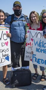 After disembarking, HMCS Fredericton personnel were bussed to Windsor Park to be reunited with their families and loved ones after a difficult six months away from home. NEIL CLARKSON, FIS