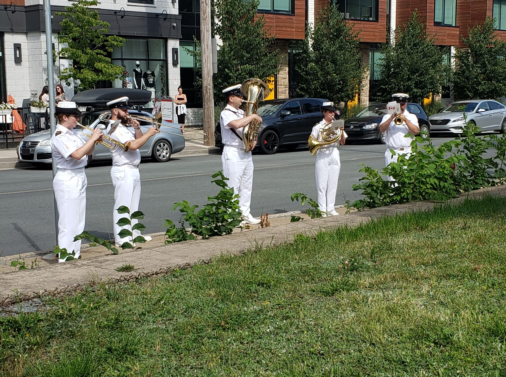 Stadacona Band musicians play for L'Arche residents