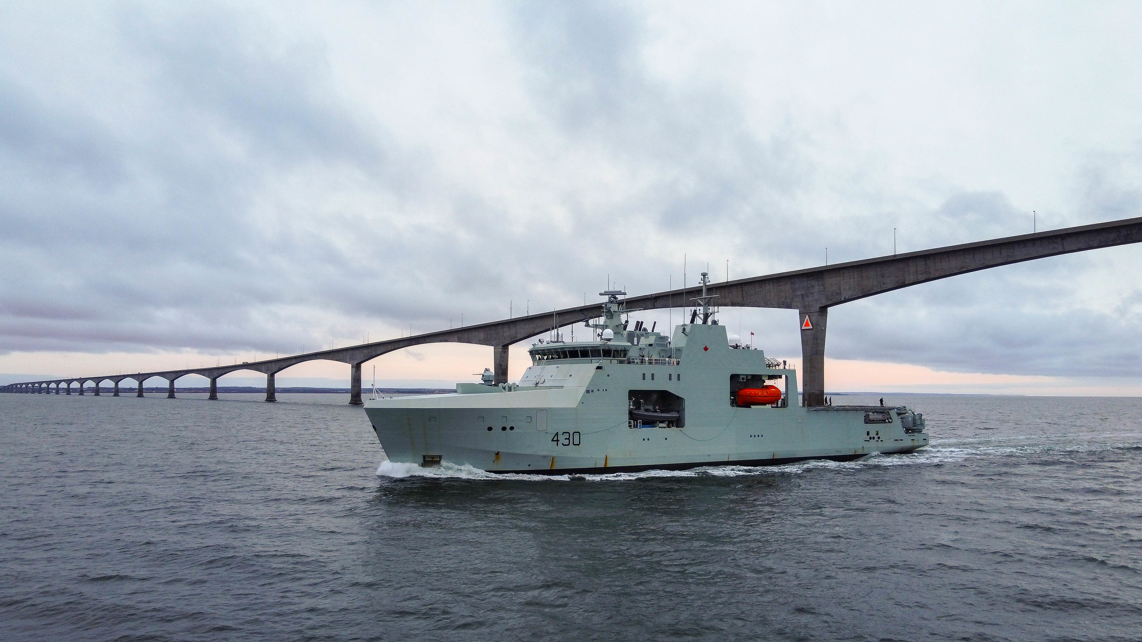 HMCS Harry DeWolf proficiency sail