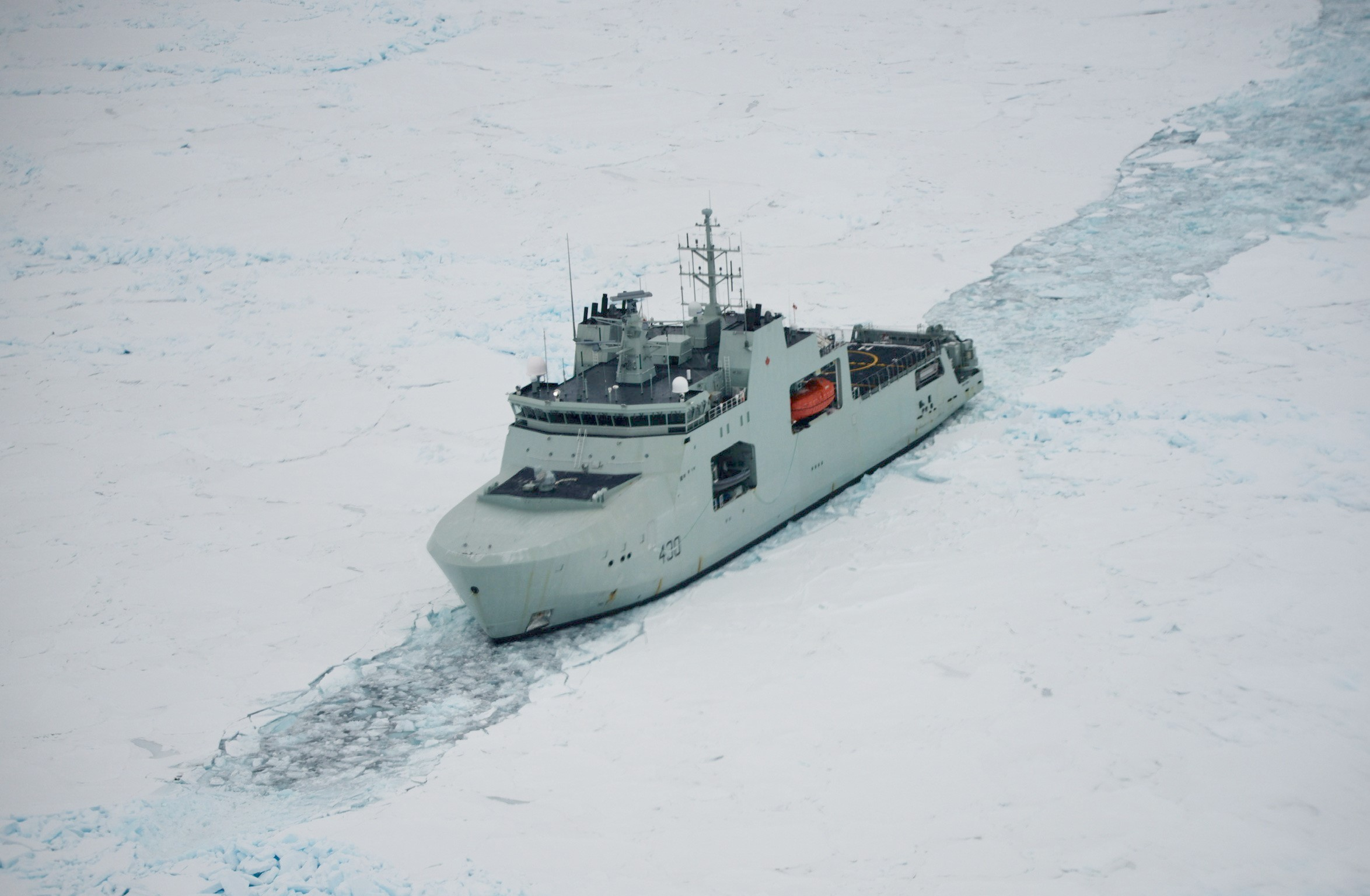 HMCS Harry DeWolf ice trials