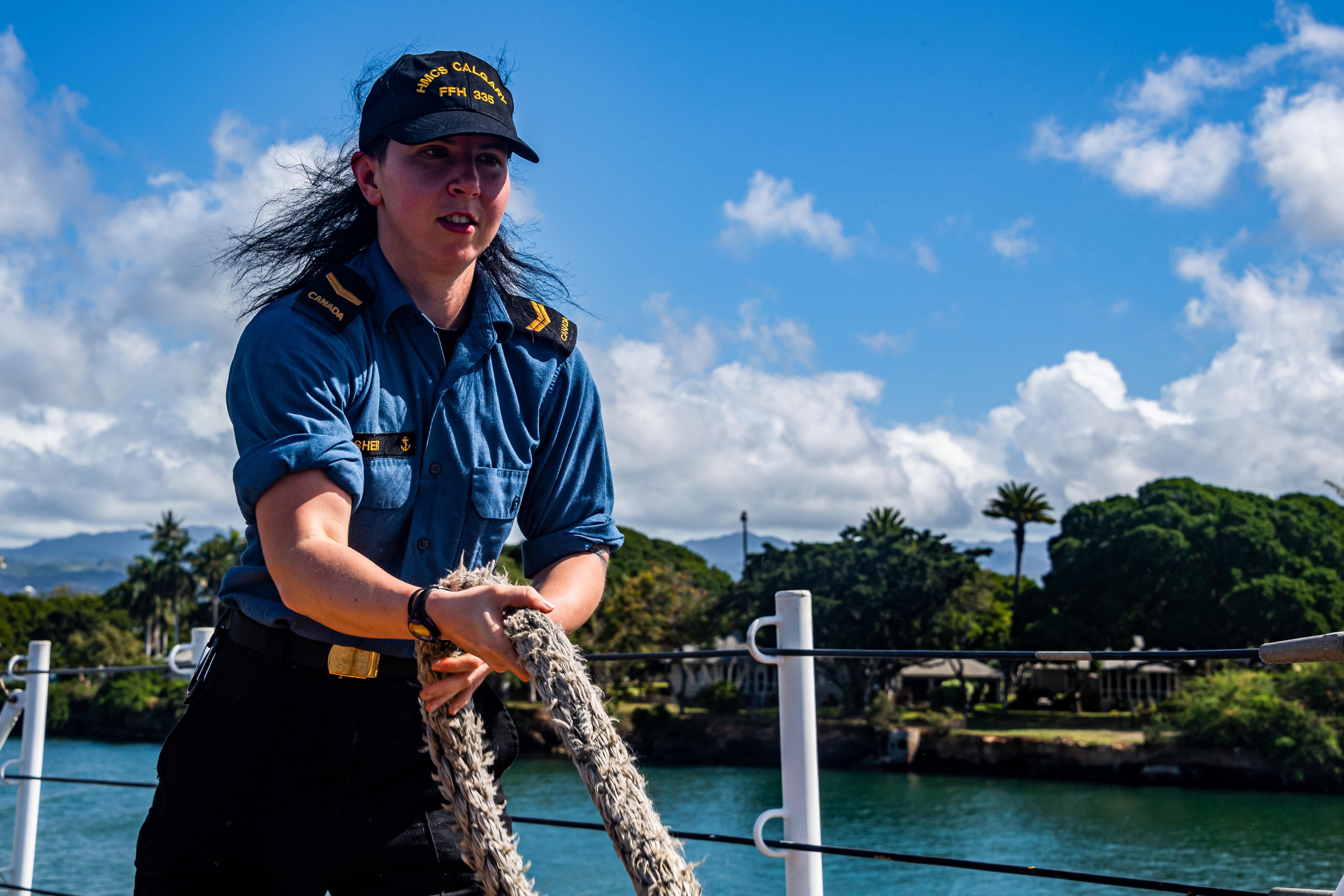 HMCS Calgary in Hawaii