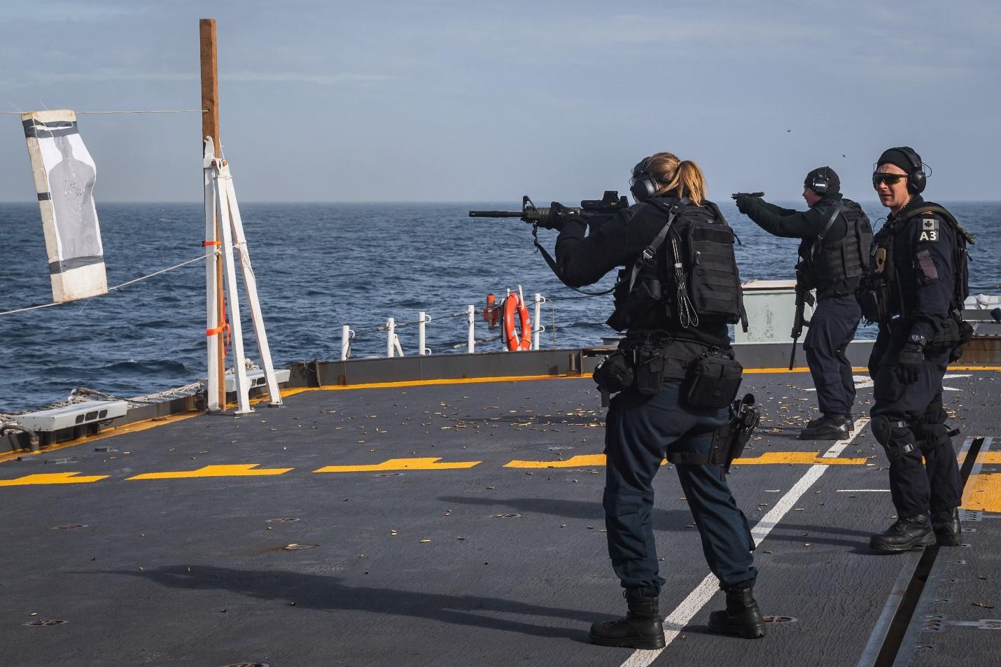 NBP training aboard HMCS Halifax