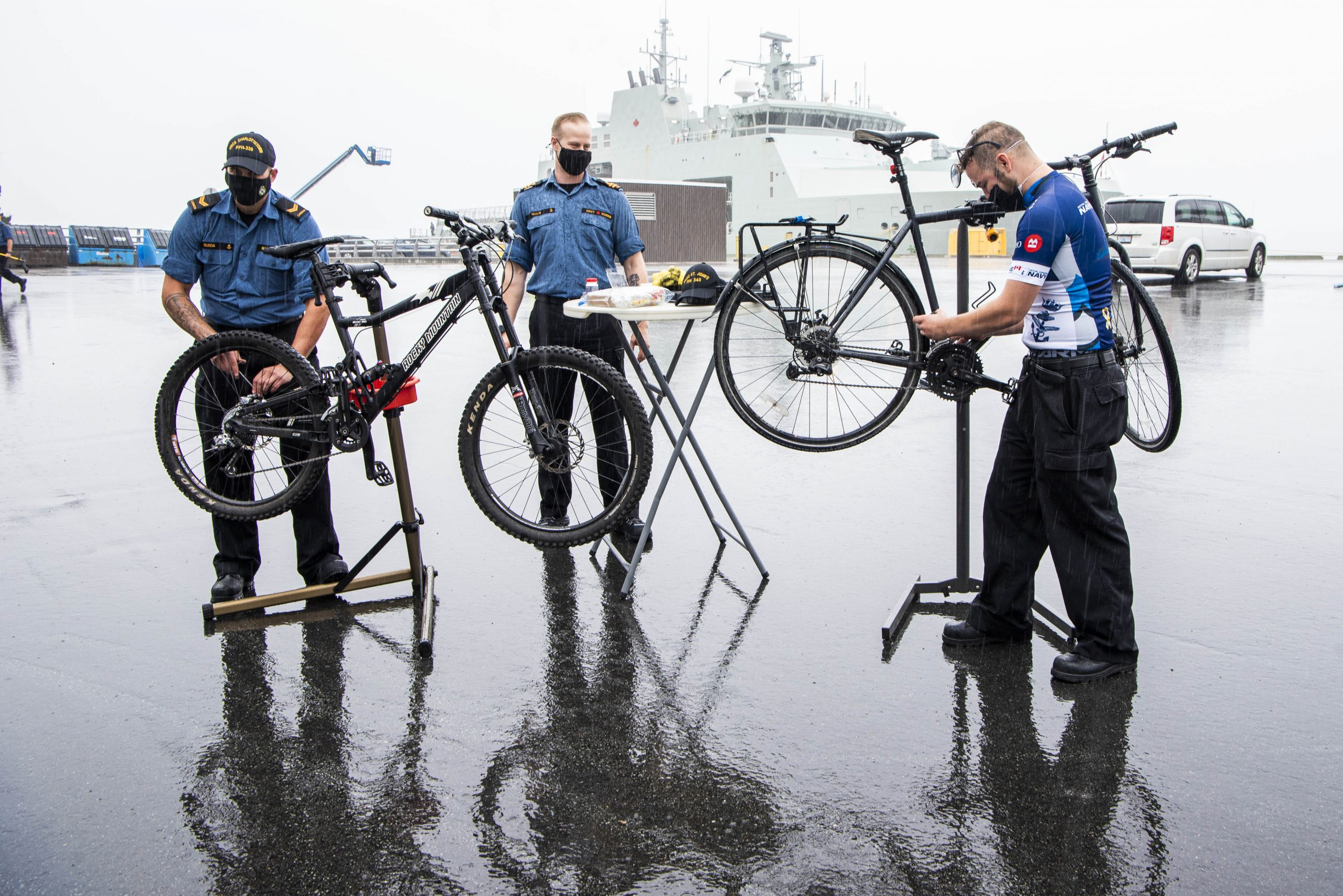 Tuning up for the Navy Bike Ride