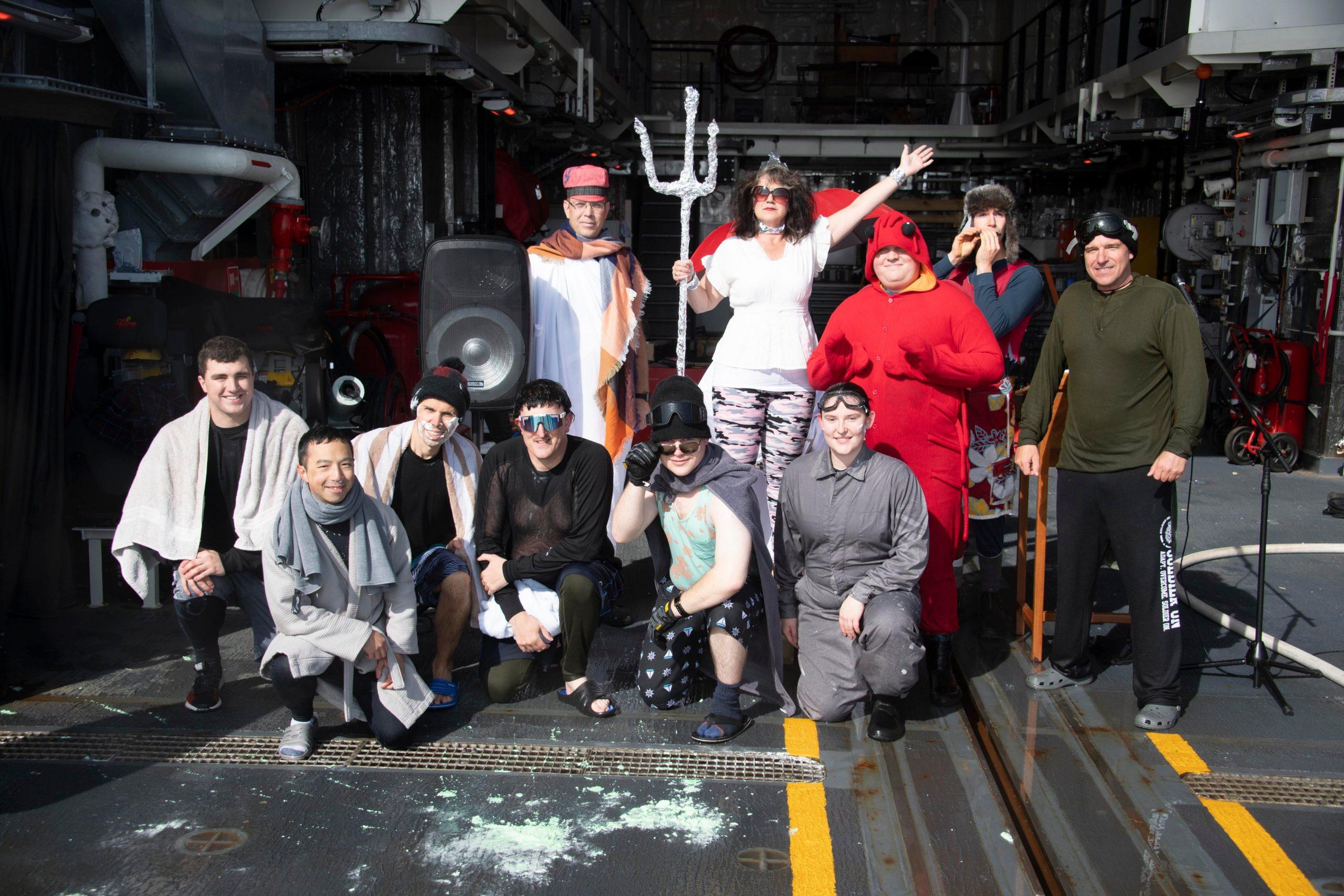 HMCS Harry DeWolf crosses the Arctic Circle